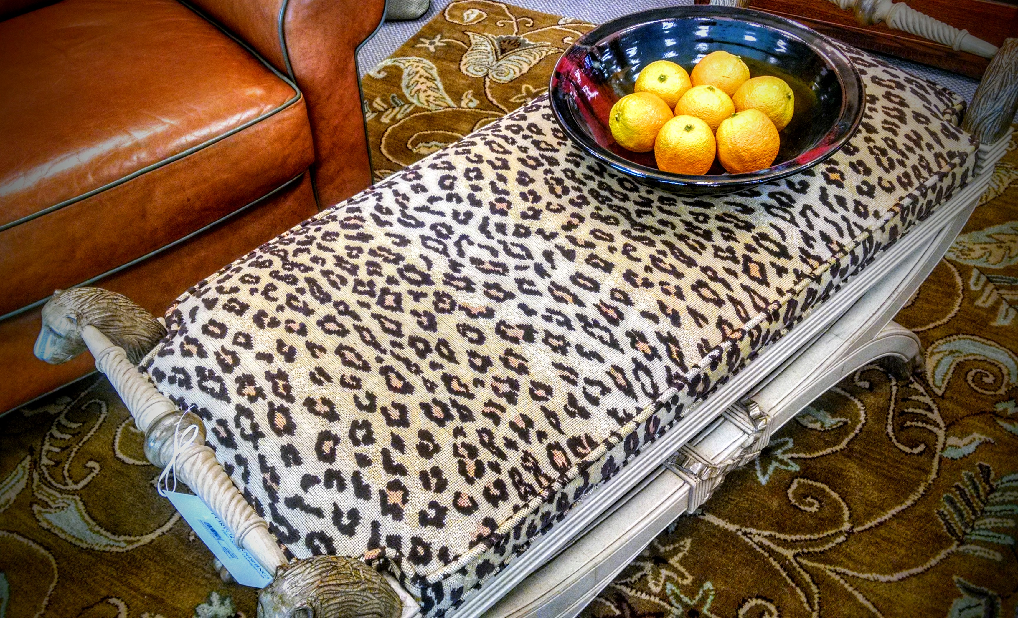 "Animal prints truly are a neutral and a fabulous way to give your room some ""posh pop""!"