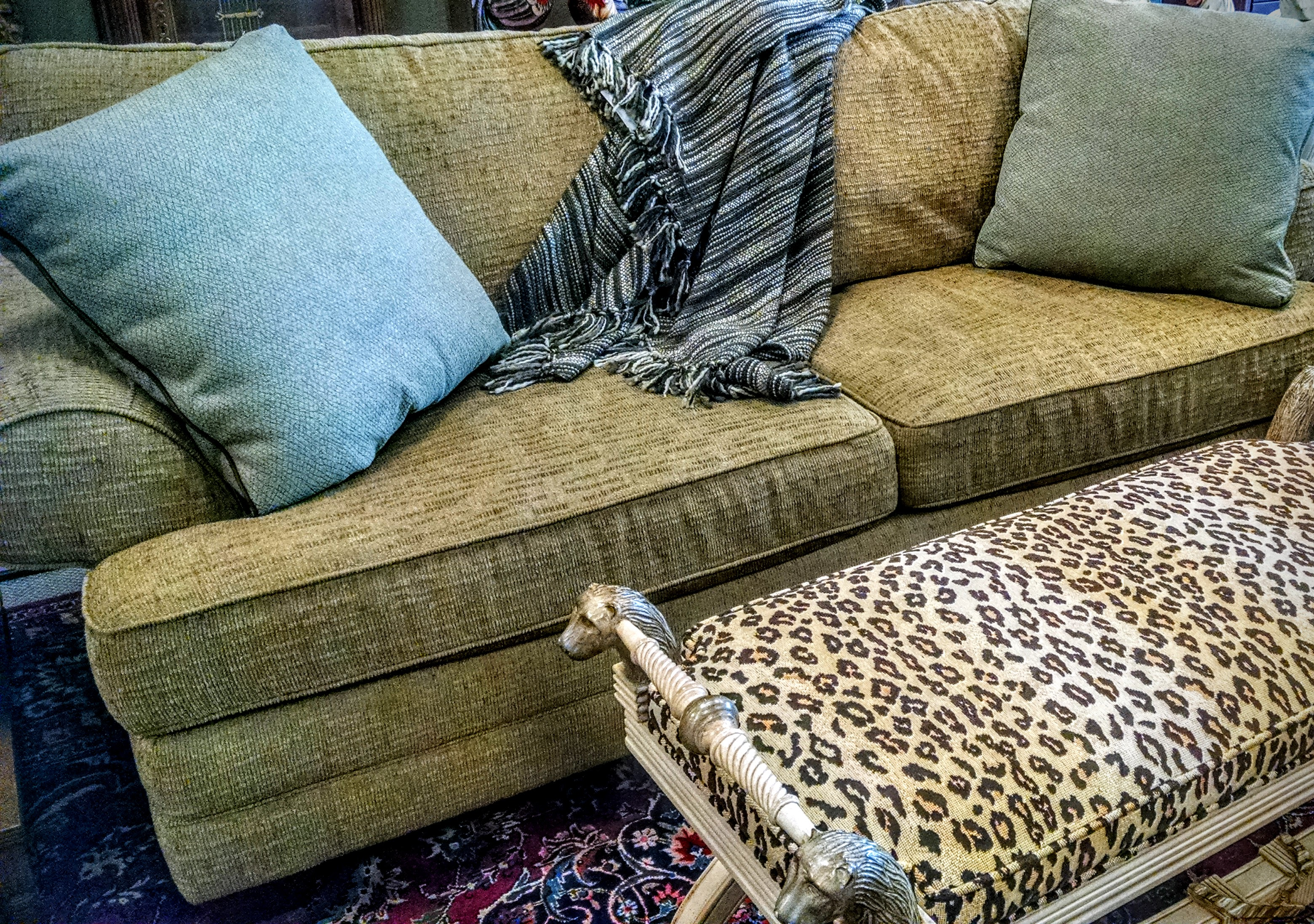 "And of course, using an animal print against other neutrals is always a sophisticated choice, but don't be afraid to consider the animal print a ""neutral"", your rooms will come alive - an easy way to add luxury to your life."